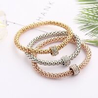 Fashion Women Gold/Silver Plated Beads Bracelet Jewelry Charm Cuff Bangle Gift