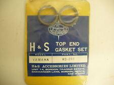 TOP END GASKET SET KIT YAMAHA RD250 (72 73 74 75) ROUND HEAD GASKETS Japan Made