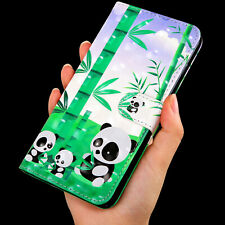 Pandas eat bamboo Multi-function flip Card slot wallet Leather Phone case cover