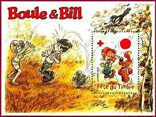 2002 FRANCE BLOC N°46**  FETE DU TIMBRE BOULE ET BILL BANDES DESSINEES LUXE MNH