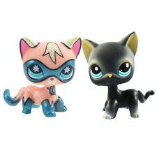 2pcs Littlest pet shop Figure Toy Comic Con Kitten Kitty Blue Eyes&Black Cat