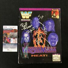 WWF Wrestlemania 13 Magazine Signed By All JSA COA WWE Undertaker Shawn Michaels
