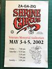"Poster Za Ga Zig Shrine Circus 2002 13 X 19"" Clowns Iowa"