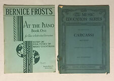 Lot of 2 Vintage music books - At The Piano 1935 & Guitar Carcassi Method 1906