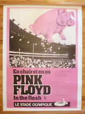 "Pink Floyd original Montreal 1977 ""In The Flesh"" tour poster 38"" x 53"""