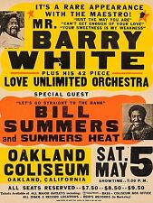 """Barry White Oakland 16"""" x 12"""" Reproduction Concert Poster Photo"""