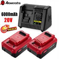 20V 6.0Ah MAX Lithium Battery / Charger For Porter Cable PCC685L PCC680L PCC682L