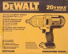 "DEWALT DCF889B 1/2"" 20 VOLT 20V CORDLESS IMPACT WRENCH DETENT 400 FT-LB - NEW!"