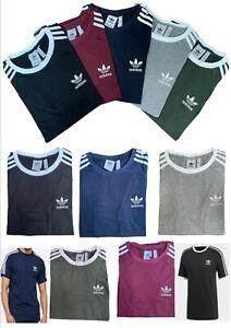 Adidas Originals Men's T Shirt California 3 Stripe Crew Neck Short Sleeve