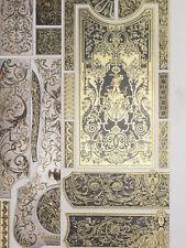 Incrustations Genre Boulle Meubles RACINET LITHOGRAPHIE Art Decoratif 1870