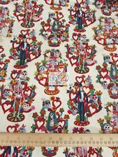 LA VIDA SKULLS IVORY BY ALEXANDER HENRY COTTON FABRIC BTY FH-2673 CLOTHING DECOR