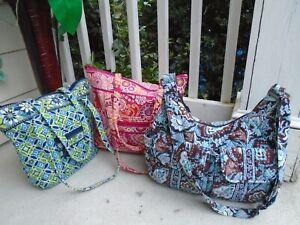 Retired Vera Bradley lot of 3 tote shoulder bag