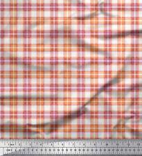 Soimoi Fabric Gingham Check Print Fabric by Meter-CH-53D