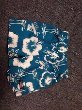 L L Bean Swim Trunk Shorts Size 6 Mo Palm Tree Surf Design Blue White