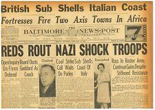 Battle of Stalingrad Breaks Nazi Ring Gen Paulus Rokossovsky January 14 1943  B2