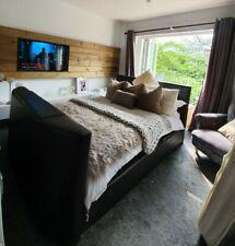king size  brown Tv bed frame