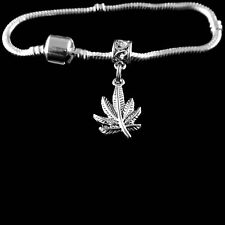 Marijuana bangle Pot Bracelet Grass bangle Ganja charm bracelet bliss jewelry