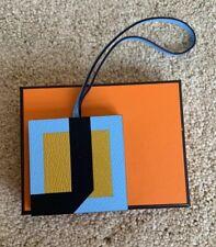 BNIB Hermes Charm Lettre Au Carre J Letter Blue Gold Rodeo Birkin Kelly