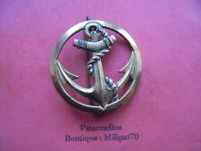 Coiffure . insigne de  Beret  - Troupes de Marine . Coloniale ( Bichet )