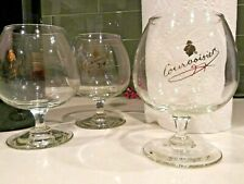 Courvoisier Cognac Brandy Snifter Glass set of 3