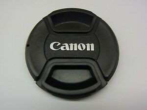 58mm Front Lens Cap Center Pinch Snap on for Canon Camera Plastic OEM