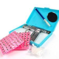 Ear Nose Navel Body PIERCING GUN Tool Kit Free 98 studs Professional set
