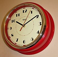 American style Diner 30cm Deep Red Large Wall Clock Kitchen Living room