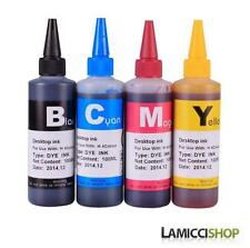 Brother refill Dye ink for LC101 DCPJ152 MFCJ245 J285DW J450DW J470DW 4 x 100ml