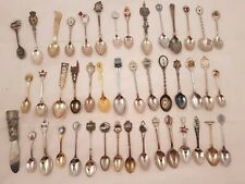 Lot of 40 plus Souvenir Collector Spoons including Indianapolis 500