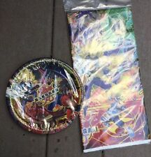 Bakugan birthday party Supplies Tablecover & Plates
