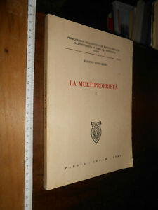 LIBRO:La multiproprietà Copertina flessibile –  1983 di Confortini MassIMO