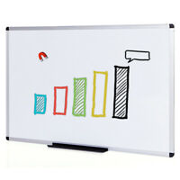Magnetic Whiteboard Dry Erase Board 48 X 36 Inches Silver Aluminium Frame Office