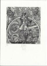 """HARRY JÜRGENS: Exlibris für Edwin Smits """"Thor und Jormungand"""""""