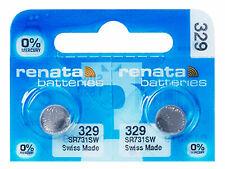 2 x Renata 329 Pila Batteria Orologio Mercury Free Silver Oxide SR731SW 1.55V