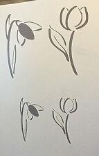 Tulipanes Flores Dibujo Estilo A4 Mylar reutilizable Plantilla Aerógrafo Pintura Arte