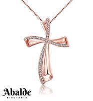 Collar Colgante Joya Mujer Diseño Cruz Plata Accesorio Regalo ideal Novia Amor