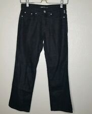 Versace Jeans Couture Black Jean Pants Shimmer Metallic Womens Size 26