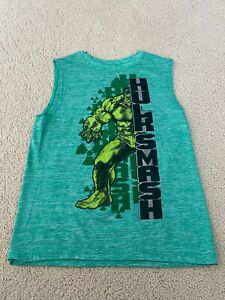 Marvel Avengers:Age Of Ultron HULK SMASH Green Graphic Tee Size Youth M 10/12