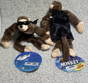 2 - Oracle UX Flingshot Flying Brown Monkey Screaming Plush Toy slingshot New
