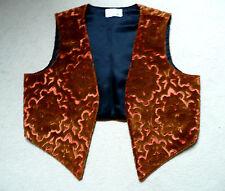 HANDMADE UNISEX VELVET EDGE-T0-EDGE WESKIT (waistcoat) Bronze 36