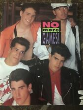 "New Kids On The Block 1990 No More Games Tour Concert Program Booklet 14""x11"""