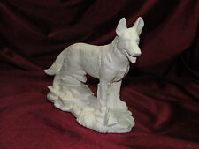 Ceramic Bisque German Shepherd Dog on a Rock Base U-Paint Ready to Paint