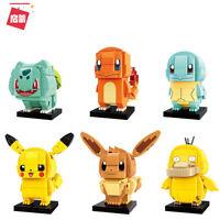 Pokemon Series Mini Figure PikaChu Eevee Psyduck Bulbasaur Squirtle Fit Toy