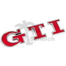 GTI Emblem Zeichen Chrom Schriftzug Aufkleber Grill Heckklappe Kotflügel Logo 3D