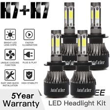 Cree Led Headlight H7 + H7 Kit 1320W High Low Beam Bulb 6000K Xenon White Lights (Fits: Neon)