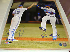 Toronto Blue Jays Brett Lawrie Jose Bautista Dual Signed MLB Baseball 16x20 Pic