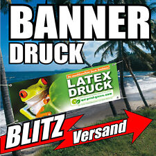Werbebanner Werbeplane PVC-Plane Banner 200 x 100cm, m.Druck u. Ösen, wetterfest