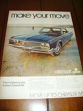 1968 CHRYSLER NEWPORT  ***ORIGINAL VINTAGE AD***