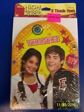 High School Musical Disney Movie Kids Birthday Party Thank You Notes w/Envelopes