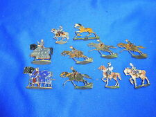 Lot of 10 Antique Tin / Pewter Toy Horsemen Soldiers World War One Ww I #Bm5